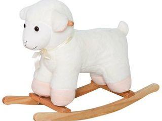 White  lamb Rocking Horse Sheep  Nursery Stuffed Animal Ride On Rocker for Kids Retail   71 99