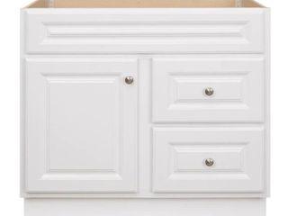 Glacier Bay Hampton 36 in  W x 21 in  D x 33 5 in  H Bath Vanity Cabinet Only in White