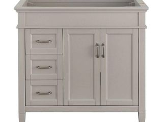 Home Decorators Collection Ashburn 36 in  W x 21 75 in  D Vanity Cabinet in Grey
