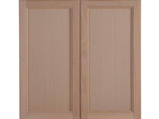 Hampton Bay Easthaven Shaker Assembled 30x30x12 in  Frameless Wall Cabinet in Unfinished Beech