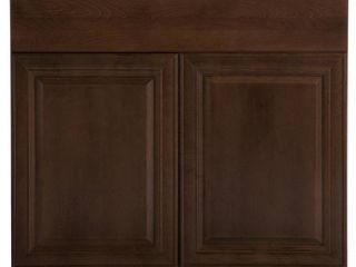 Hampton Bay Benton Assembled 36x34 5x24 in  Base Cabinet with Soft Close Full Extension Drawer in Butterscotch