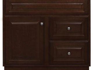Hampton 36 in  W x 21 in  D x 33 5 in  H Bathroom Vanity Cabinet Only in Cognac