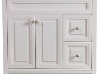 Home Decorators Collection Brinkhill 36 in  W x 34 in  H x 22 in  D Bath Vanity Cabinet Only in Cream