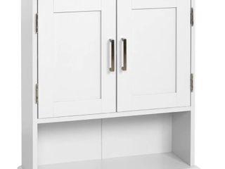 Glacier Bay Shaker Style 23 in  W Wall Cabinet with Open Shelf in White