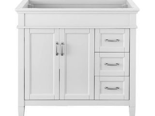 Home Decorators Collection Ashburn 36 in  W x 21 75 in  D Vanity Cabinet in White