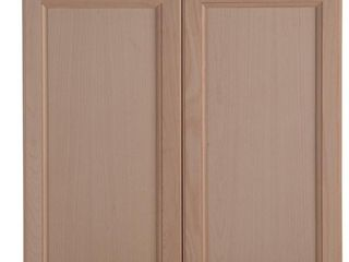 Easthaven Shaker Assembled 30x30x12 in  Frameless Wall Cabinet in Unfinished Beech