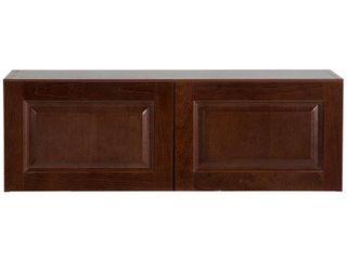 Hampton Bay Benton Assembled 36x12x12 in  Wall Cabinet in Amber