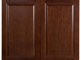Hampton Bay Benton Assembled 36x30x12 in  Wall Cabinet in Amber