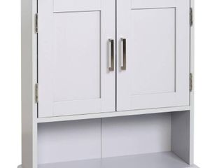 Glacier Bay Shaker Style 23 in  W Wall Cabinet with Open Shelf in Dove Gray  Grey