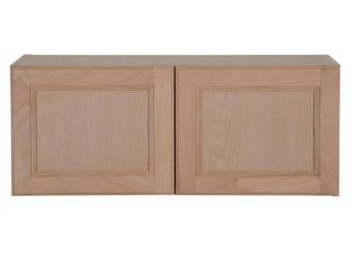 Hampton Bay Easthaven Shaker Assembled 30x12x12 in  Frameless Wall Cabinet in Unfinished Beech