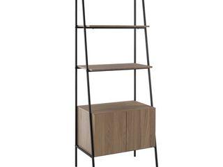72  Metal   Wood ladder Storage   Mocha