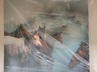 Huseyin Taskin lost Horses Canvas Art