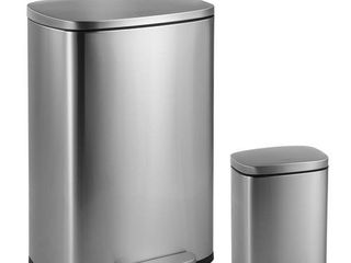 happimess Connor 13 Gallon Trash Can with lid and FREE Mini Trash Can