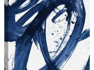 Indigo Brushstrokes by Willowbrook Fine Art Canvas Art Print Abstract