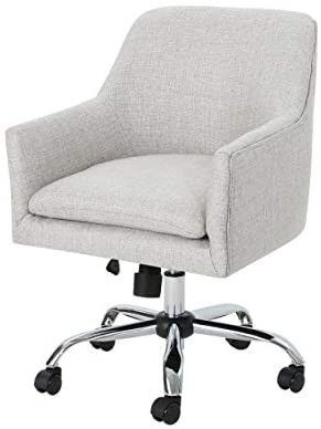 Christopher Knight Home Morgan Mid Century Modern Fabric Home Office Chair with Chrome Base