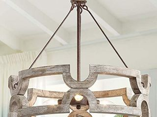 The Gray Barn Maplehurt Farmhouse Drum Chandelier Pendant lighting For Dining Room