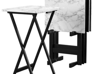 Copper Grove Meisel White Tray Table Set