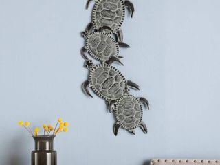 Southern Enterprises Metal Turtle Wall Art