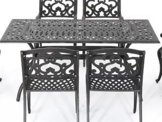 Christopher Knight Home   Cast Aluminum Outdoor Dining Chairs   Shiny Copper