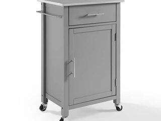 Savannah Stainless Steel Top Compact Kitchen Island Cart