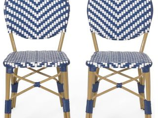 Christopher Knight Home   Remi Outdoor French Bistro Chairs  Set of 2