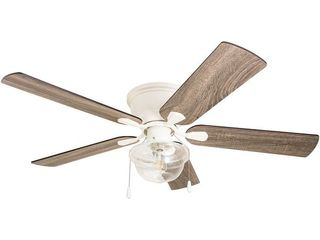 The Gray Barn East Cowes 52 inch Coastal Indoor lED Ceiling Fan with Pull Chains 5 Reversible Blades