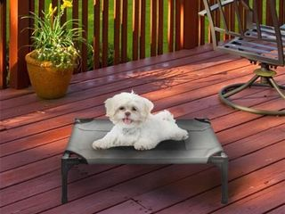 Petmaker 80 PET6083GY Elevated Pet Bed  Gray   24 5 x 18 5 x 7 in