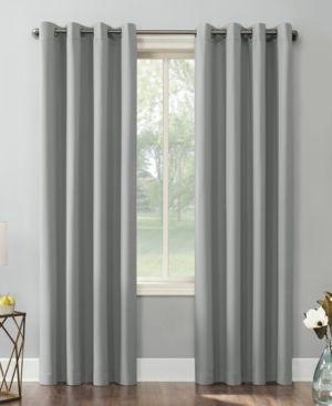 Kenneth   Energy Saving Blackout Grommet Top Curtain Panel Silver   Sun Zero  95 x54
