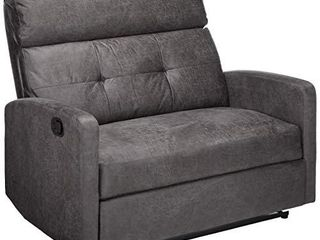 Christopher Knight Home Halima Microfiber 2 Seater Recliner  Slate