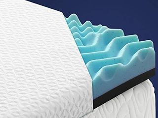 TEKAMON 3 Inch Memory Foam Mattress Topper King Size 7 Zone High Density Cooling Gel Infused Mattress Pad with Removable   Washable Bamboo Fiber Cover