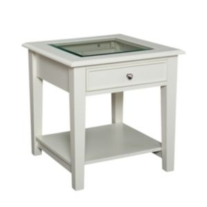 Panorama End Table   Off White