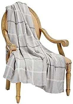 Nautica Home Chenille Benchley Throw  Grey