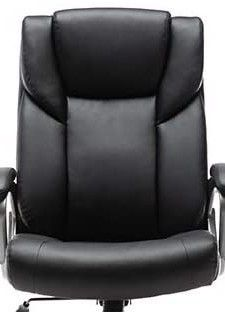 Amazon Basics High Back Bonded leather Executive Office Chair Seat  Black  SEAT PIECES ONlY