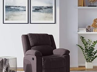Relax A lounger logan Collection Multi Function Microfiber Recliner Chair  37 4  l x 36 4  W x 38 5  H  Chocolate