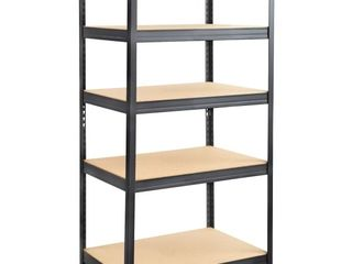 Safco Boltless Steel Particleboard Shelving  Five Shelf  36w x 24d x 72h  Black