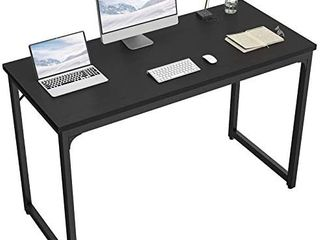 Computer Desk 47a Modern Sturdy Office Desk PC laptop Notebook Study Writing Table for Home Office Workstation  Black