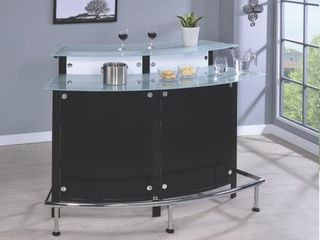 Coaster Home Furnishings 100139 Contemporary Bar Table  Chrome and Black