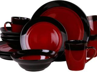 Elama s Tanizia 16 Piece High Gloss Dinnerware Set