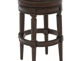 NewRidge Home Goods NewRidge Walnut Backless Counter Height 25 in  Stool  Brown