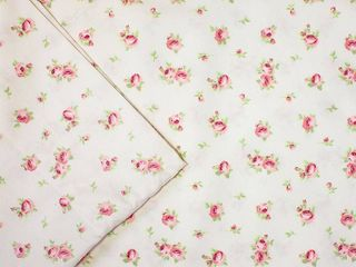 Amrapur Overseas Inc  Printed Sheet Set Sweet Rose Ivory  Full