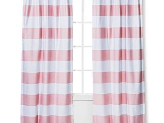 Twill light Blocking Curtain Panels Pink  42 x84    Pillowfort   2 Panels