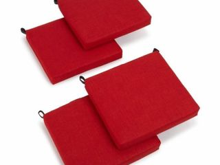 Blazing Needles 20 Inch Indoor Chair Cushion   Set of 4