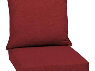 leala Texture Deep Seat Outdoor Cushion Set Ruby   Arden Selections
