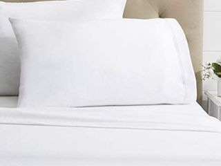 Dormisette luxury German Flannel Ultra Soft 6 Ounce Sheets Set White Twin