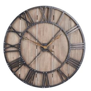 Household Essentials Roman Numerals Vintage Wall Clock