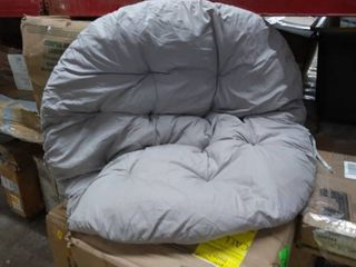 Cushion for Saucer Chair Papasan Chair   light Gray