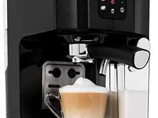 Klarstein BellaVita Coffee Machine with Self Cleaning System  3 in 1 Function for Espresso  Cappuccino and latte Macchiato  20 Bar Pump Pressure  1 4l Water Tank  Removable Drip Tray  Black