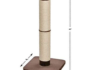 MidWest Homes for Pets Cat Scratching Post   Forte Huge Cat Scratching Post w Extra Durable Sisal Wrap  Brown   Tan  Giant XXl Cat Post
