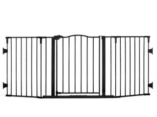 Regalo Deluxe Home Accents 74 Inch Widespan Safety Gate  Includes 4 Pack of Wall Mounts