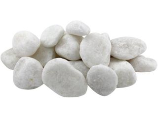 Margo 20 lb Snow White Decorative Rock Pebbles  2IJ to 3IJ